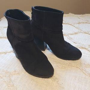 Rag & bone grey suede high heel booties